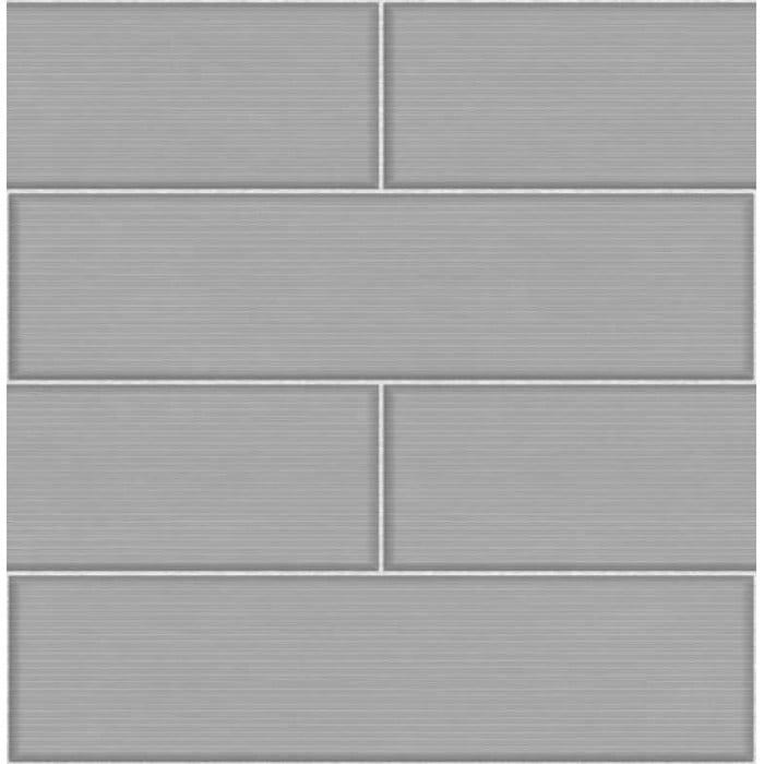 Fine decor ceramica large tile effect wallpaper grey for Grey kitchen wallpaper