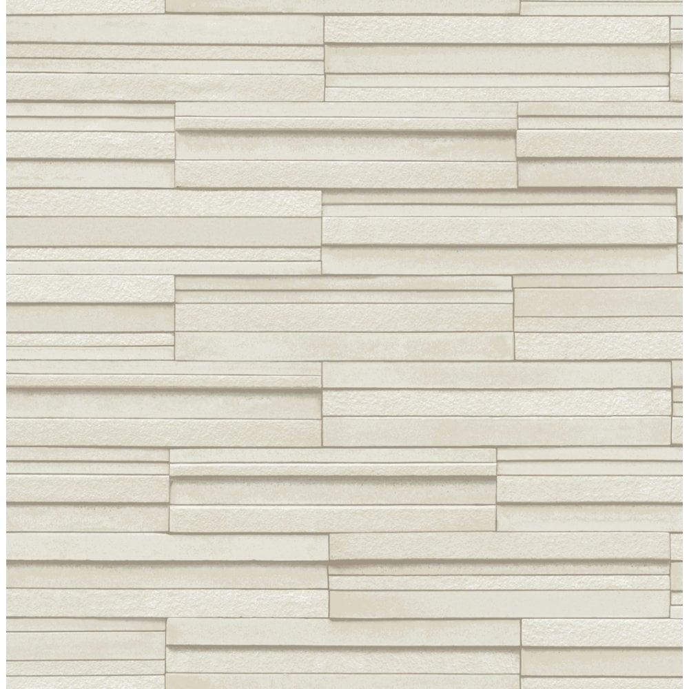 Ceramica Slate Tile Washable Wallpaper Cream (FD40125)