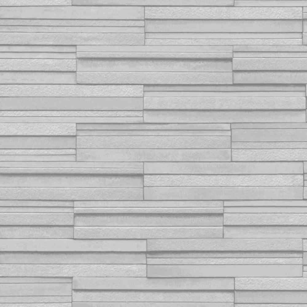 Tile Wallpaper Part - 18: Ceramica Slate Tile Washable Wallpaper Grey (FD40127)