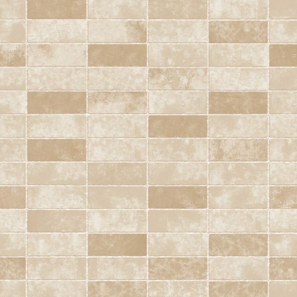 Ceramica Small Tile Effect Wallpaper Neutral Cream