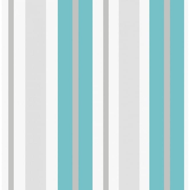 Fine decor ceramica stripe wallpaper teal white silver fd40378 wallpaper from i love