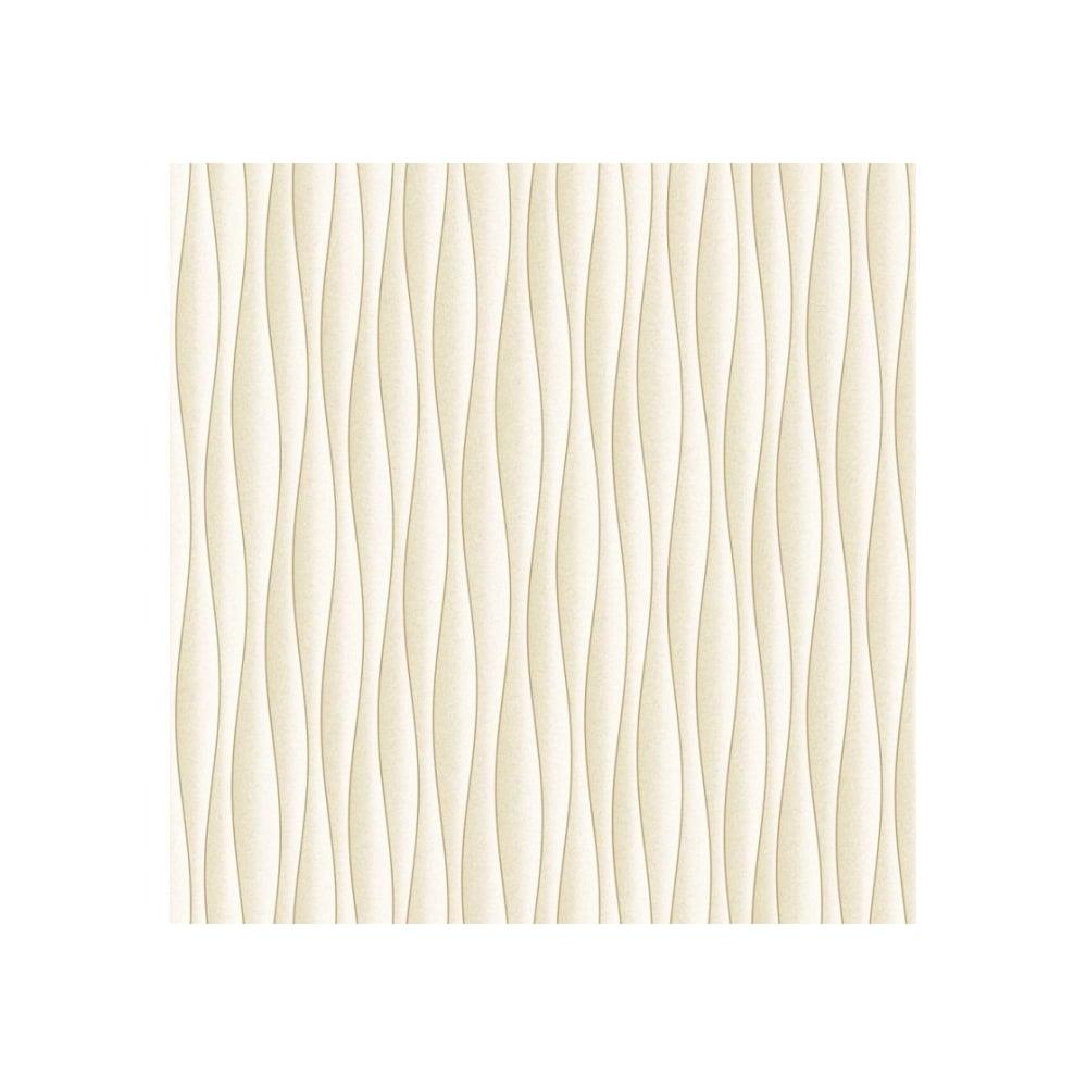 Fine Decor Ceramica Wave Wallpaper Cream Gold Fd40135