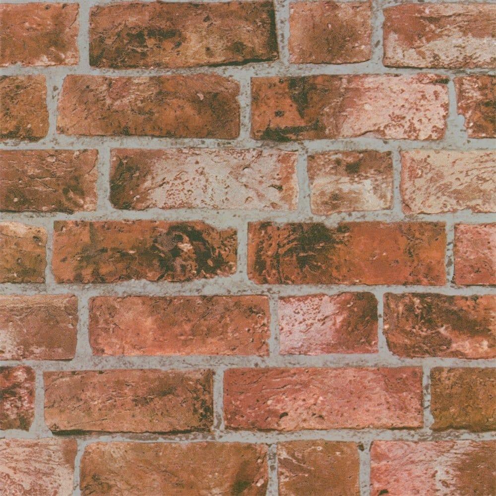Buy Distinctive Brick Wallpaper Red