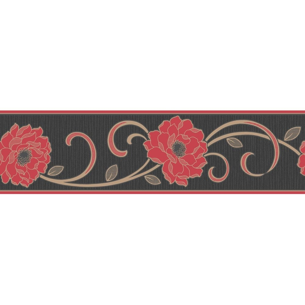 Buy Fine Decor Florentina Wallpaper Border Red Black Gold