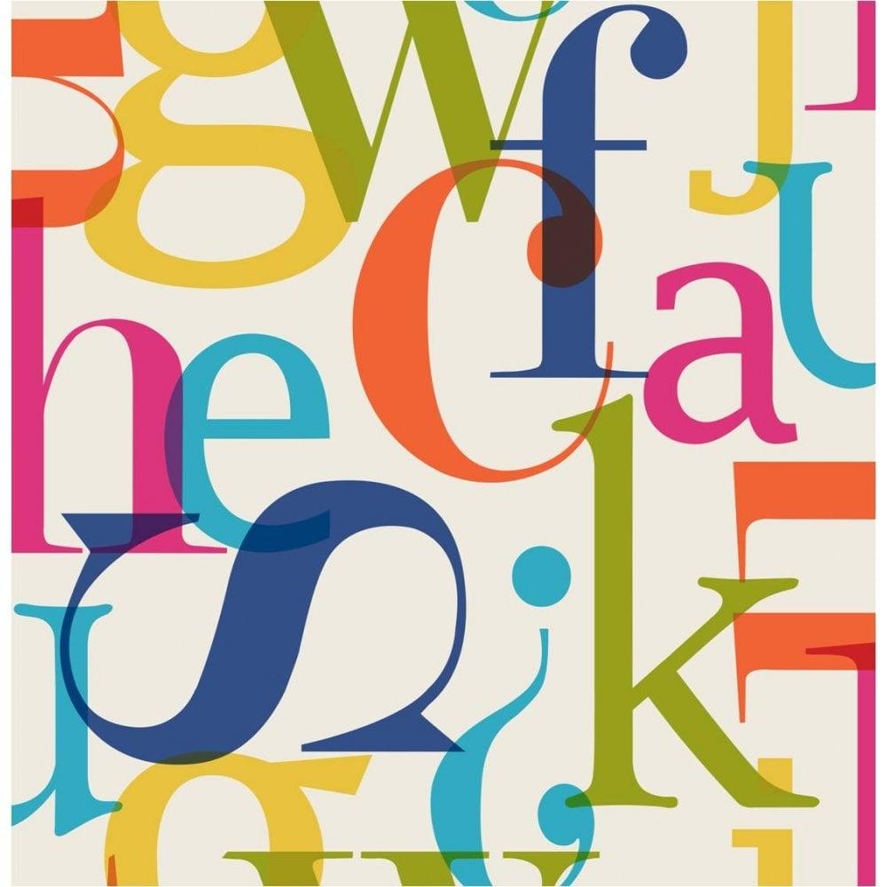 Fonts Alphabet Letters Wallpaper Multi Coloured