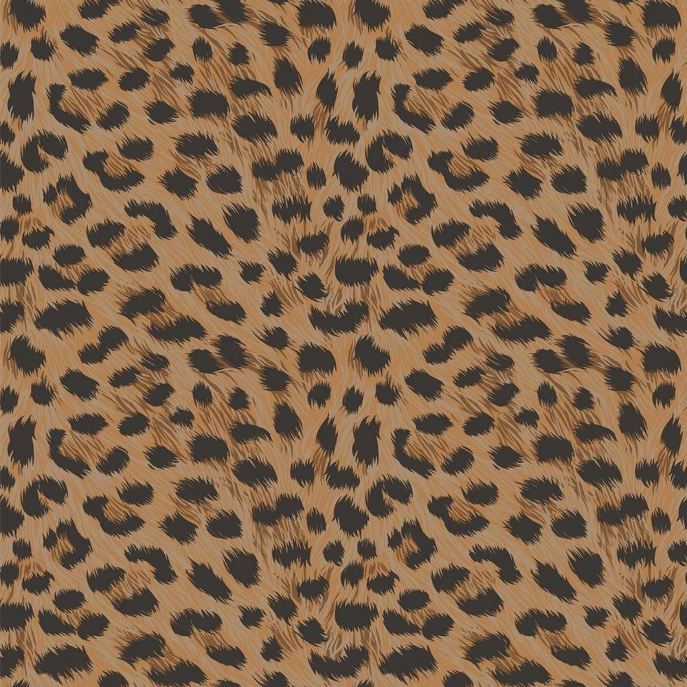furs leopard animal print wallpaper natural orange black fd30681