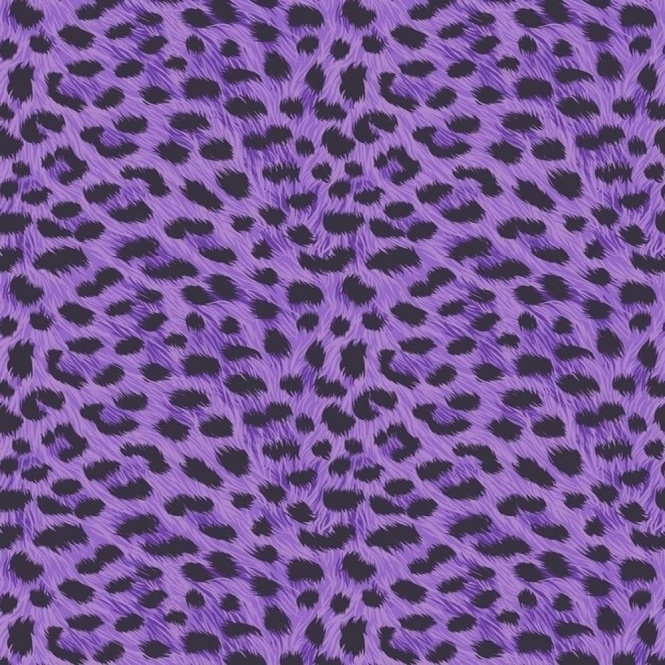 Fine Decor Furs Leopard Animal Print Wallpaper Natural Purple / Black (FD30683)