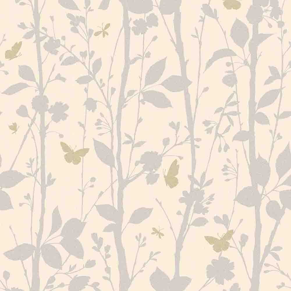 Fine decor geo butterflies glitter wallpaper cream - Butterfly wallpaper homebase ...