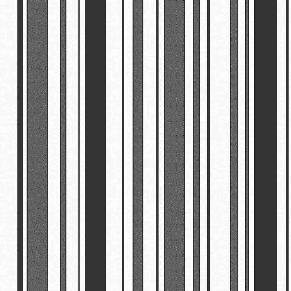 Stylish black and white striped wallpaper for White wallpaper uk