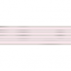 Glitz Striped Glitter Wallpaper Border Pink / Silver (DLB50151)
