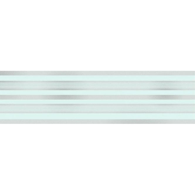Glitz Striped Glitter Wallpaper Border Teal / Silver ...