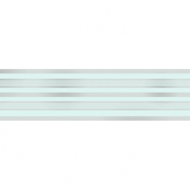 Glitz Striped Glitter Wallpaper Border Teal / Silver (DLB50146)