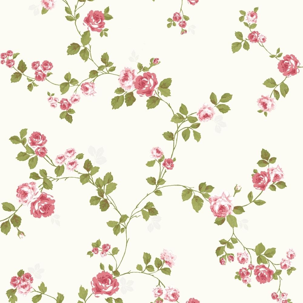 Fine Decor Heritage Mid Floral Wallpaper Red Cream Fd40169