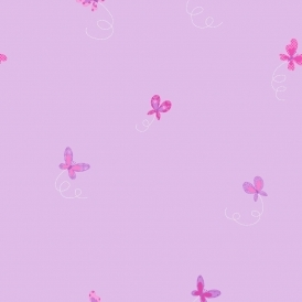 Butterfly Hoopla Wallpaper Lilac (DL30704)