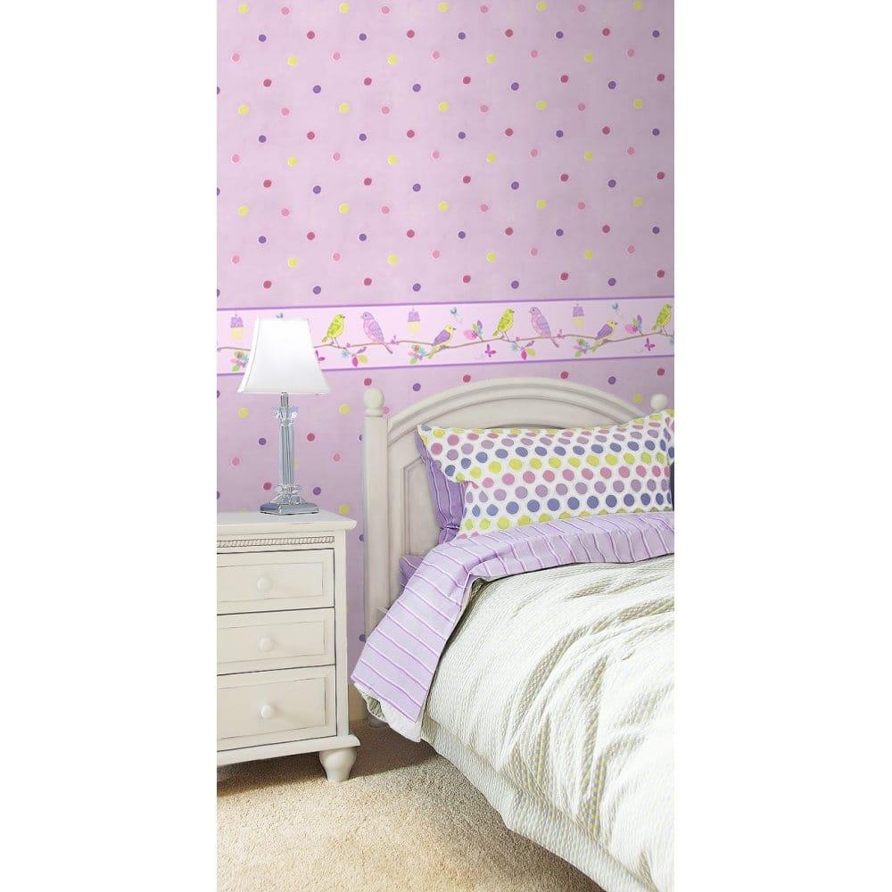 Pretty Wallpaper For Bedrooms Buy Fine Decor Hoopla Wallpaper Border Lilac