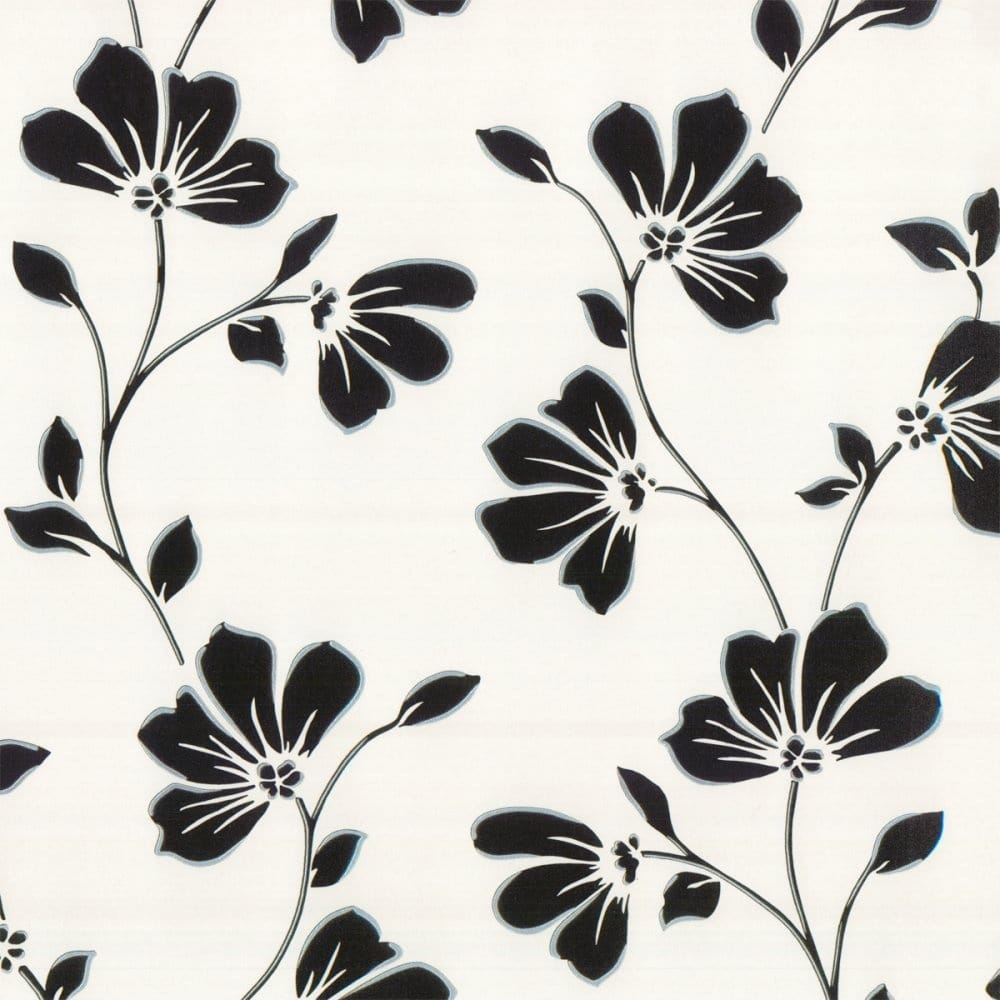 Fine Decor Lorenzo Floral Wallpaper Black Fd13757
