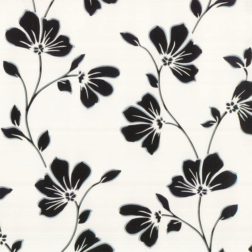 Fine Decor Lorenzo Floral Wallpaper Black Fd13757
