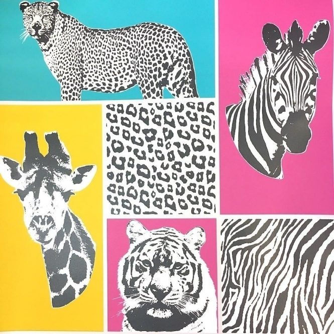 Fine Decor Novelty Animal Wallpaper Multicoloured (FD41917)