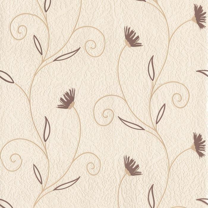 Fine Decor Petula Floral Wallpaper Chocolate Brown Cream - Brown and cream wallpaper