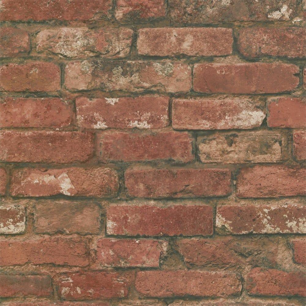 Fine decor rustic brick wallpaper red fd31285 for Wallpaper decor for sale