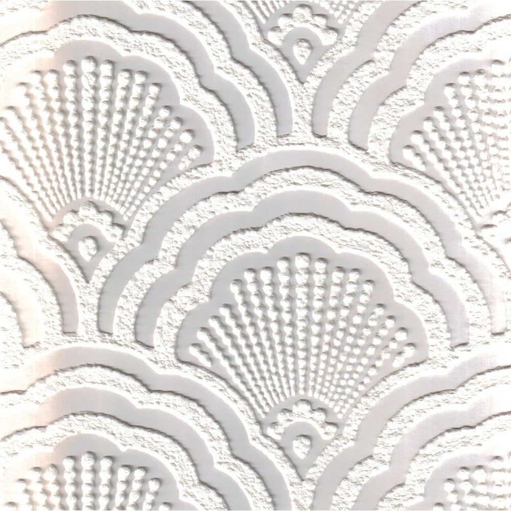 Attrayant Supatex Shell Pure White Textured Paintable Wallpaper (FD30908)