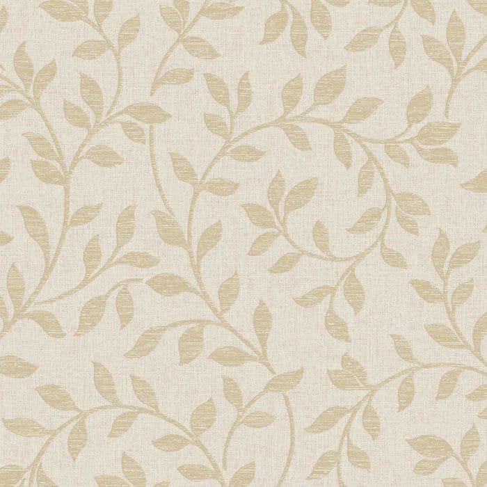 Fine Decor Torino Leaf Wallpaper Beige Gold Fd40238