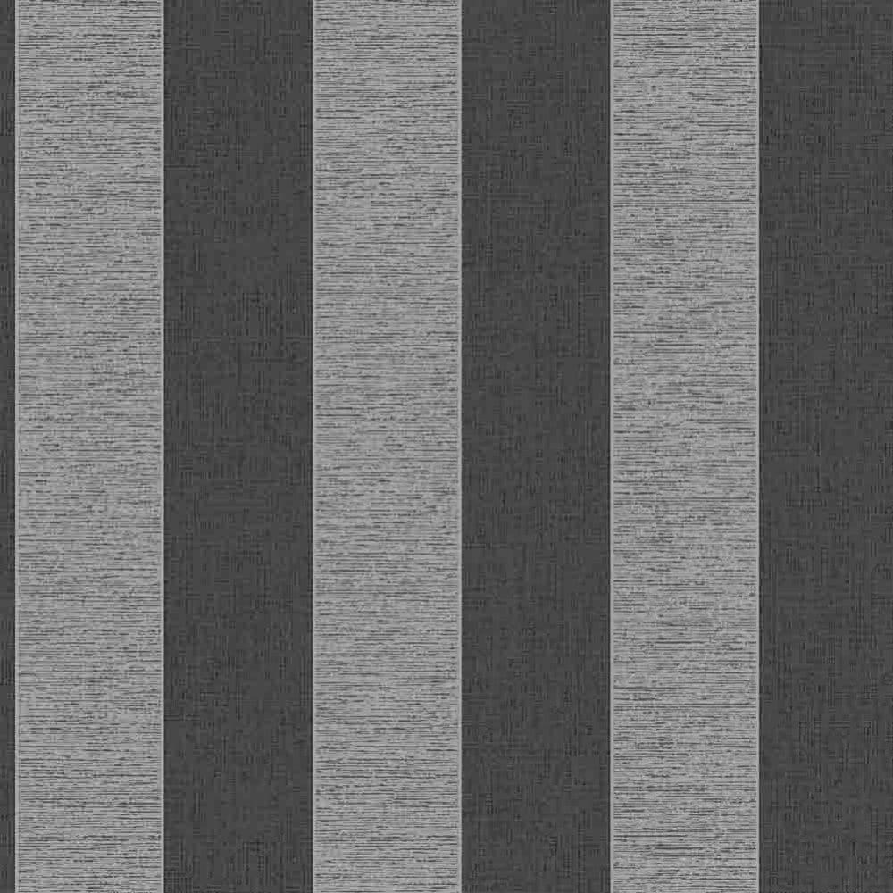 Fine Decor Torino Striped Wallpaper Black Silver