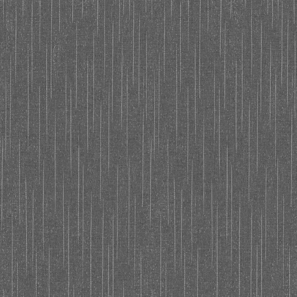 Fine Decor Torino Textured Plain Wallpaper Black Silver