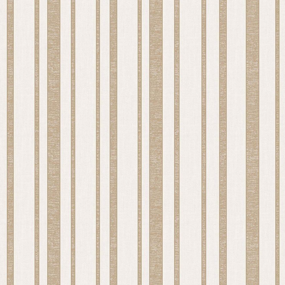 Fine decor tuscany stripe wallpaper beige gold fd40467 for Beige kitchen wallpaper