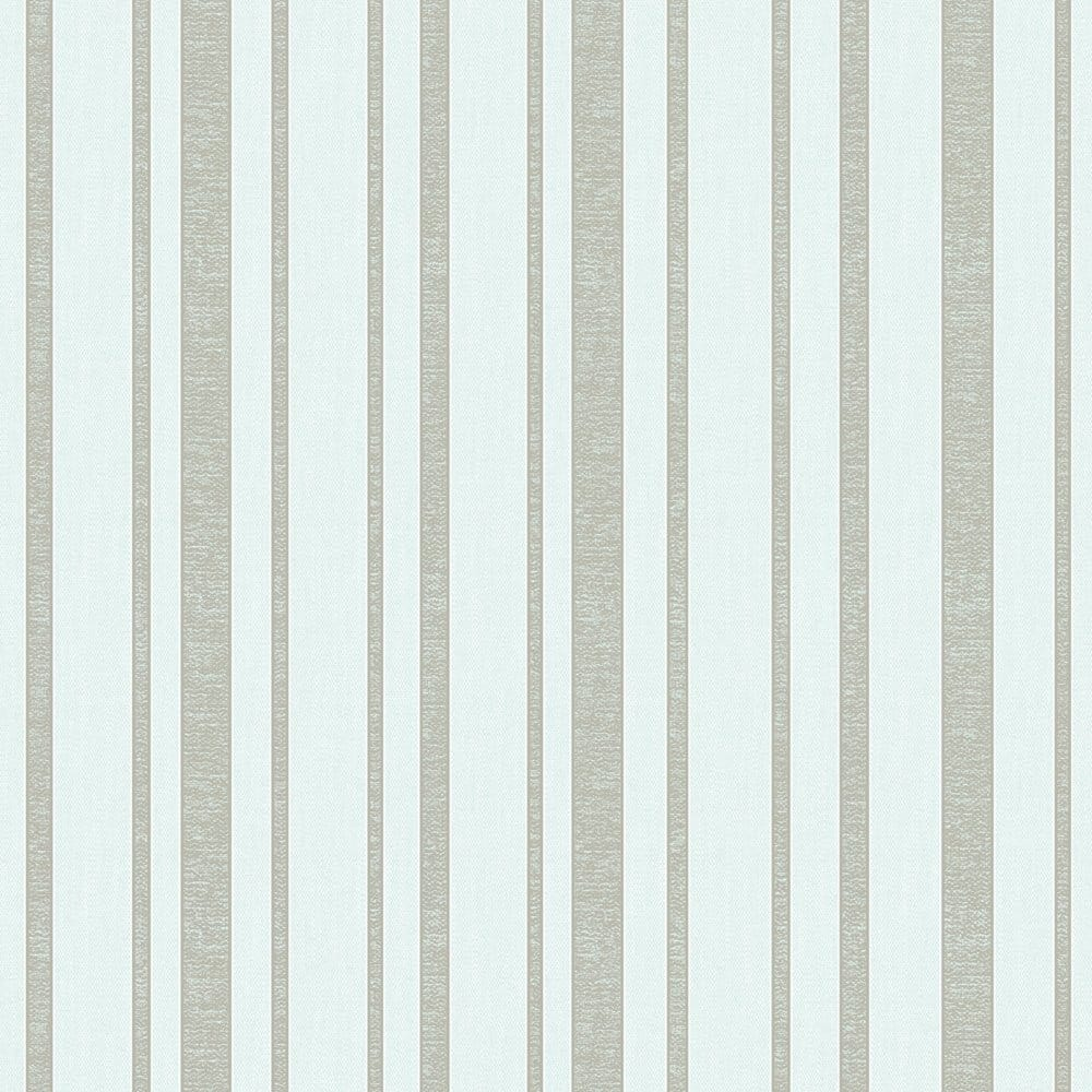 Fine Decor Tuscany Stripe Wallpaper Mint Silver Fd40468