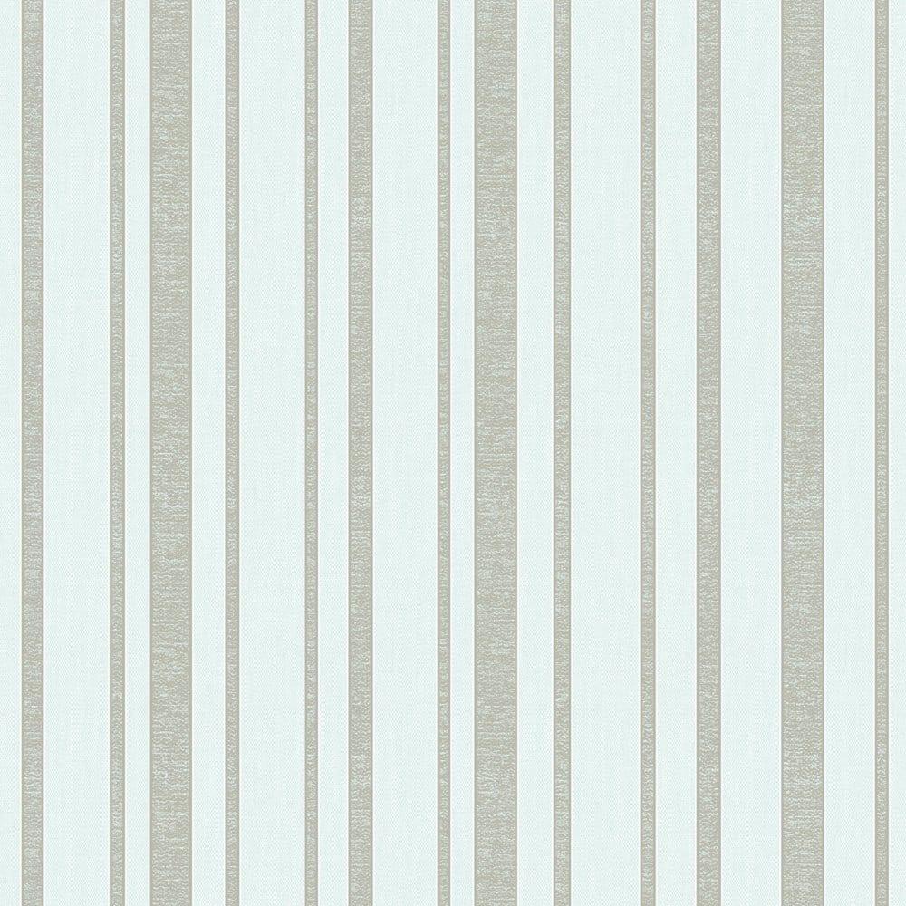 Fine Decor Tuscany Stripe Wallpaper Mint Silver Fd40468