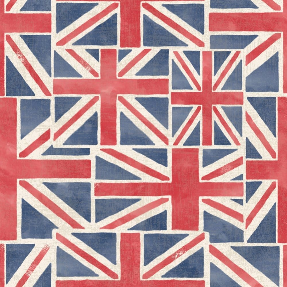 Fine Decor Union Jack Feature Wallpaper Red White Blue Fd40243 Wallpaper From I Love