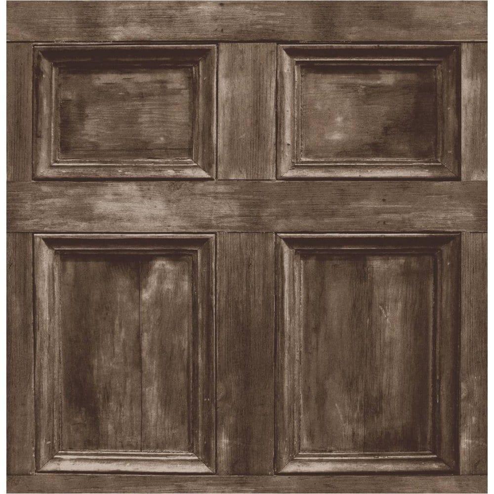 Buy Fine Decor Wood Panel Wallpaper Chocolate Brown