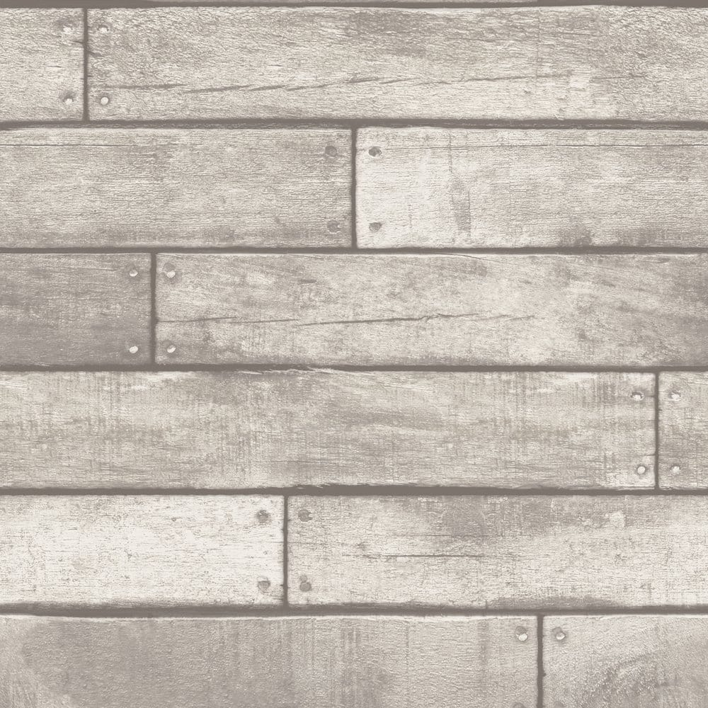 I Love Wallpaper Wood Effect : Fine Decor Wooden Plank Wallpaper White / Grey (FD31287) - Wallpaper from I Love Wallpaper UK