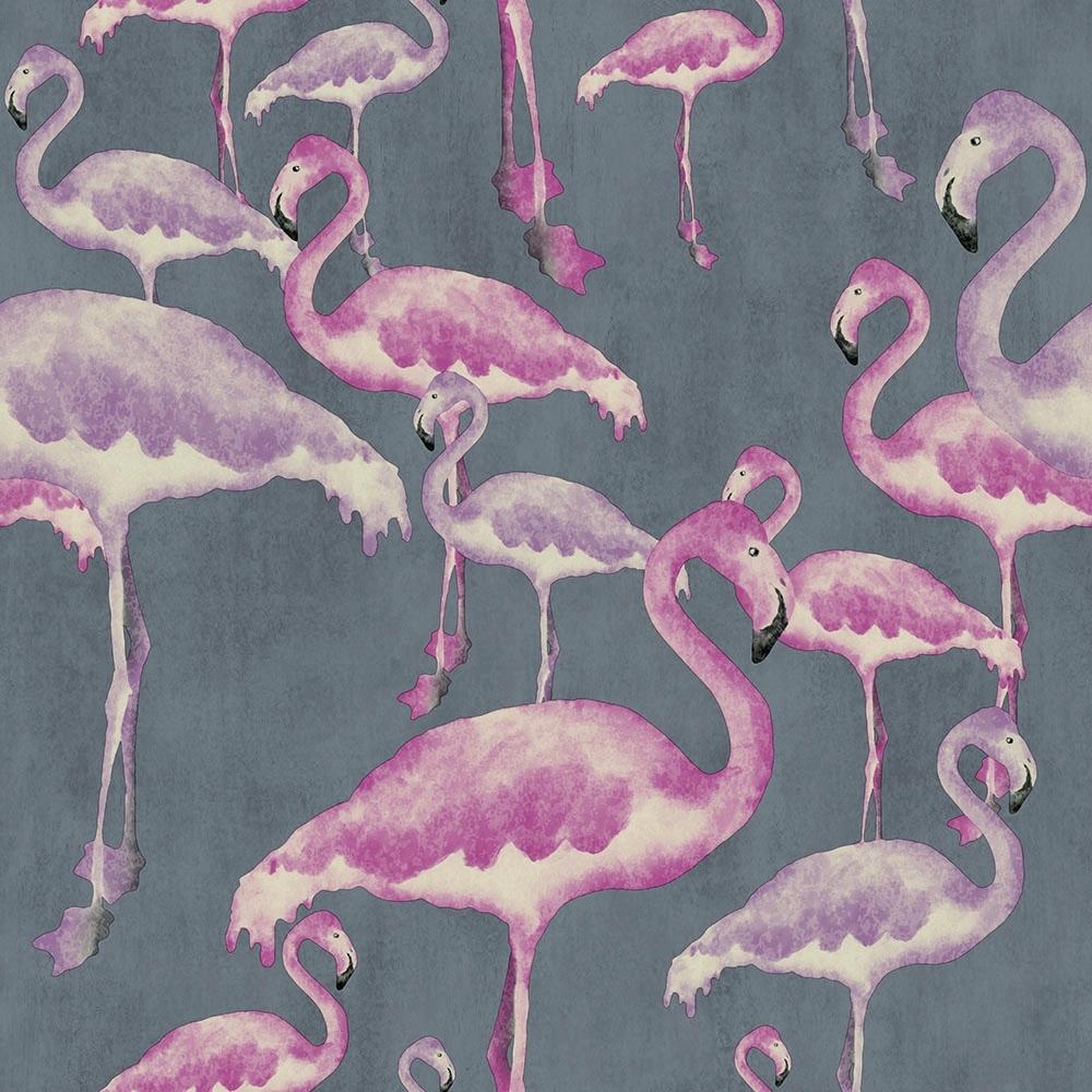 Flamingo Beach Wallpaper Marshmallow