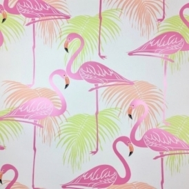 Flamingo Kids Wallpaper Pink Green