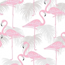Flamingo Kids Wallpaper Pink, Grey (FD42215)