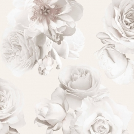 Floral Bloom Wallpaper Blush Champagne