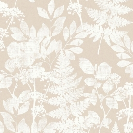 Florence Bracken Floral Wallpaper Natural White