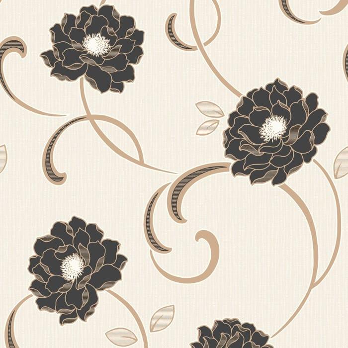 Buy fine decor florentina wallpaper cream black gold for Purchase wallpaper