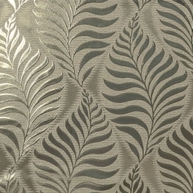 Foil Embossed Leaf Wallpaper Natural Gold