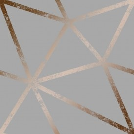 Framework Distressed Metallic Wallpaper Grey Copper