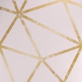 Framework Distressed Metallic Wallpaper Pink Gold