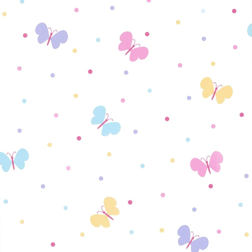 Buy fine decor butterfly garden childrens kids wallpaper for Childrens wallpaper