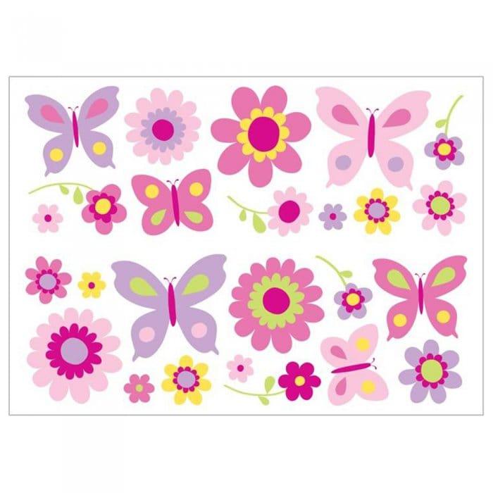 Purple Tulip Flowers Kitchen Vinyl Wall Stickers Home: Fun4Walls Butterfly Garden Wall Stickers Stikarounds