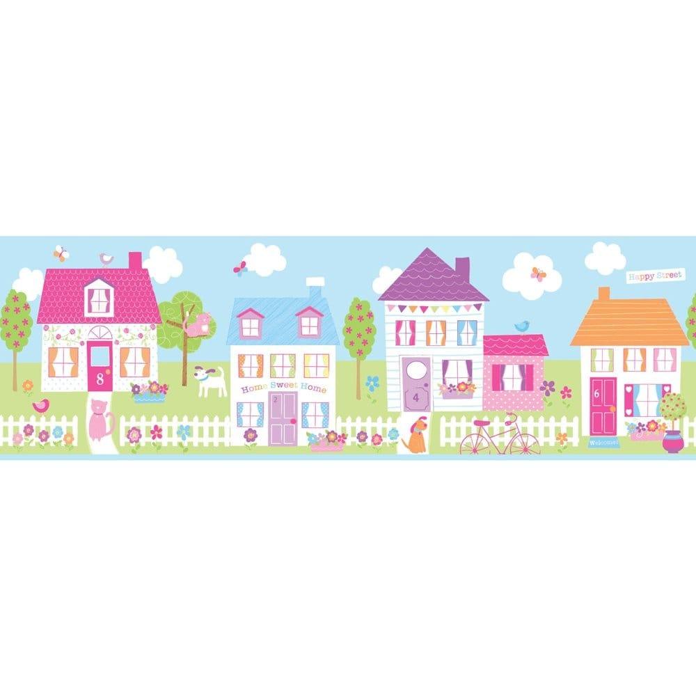 Buy Fun4walls Happy Street Childrens Wallpaper Border