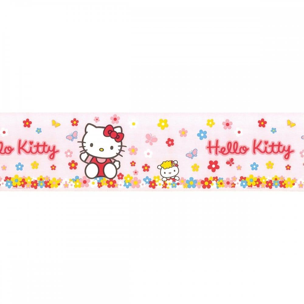 Fun4walls Hello Kitty Official Pink Wallpaper Border 10m
