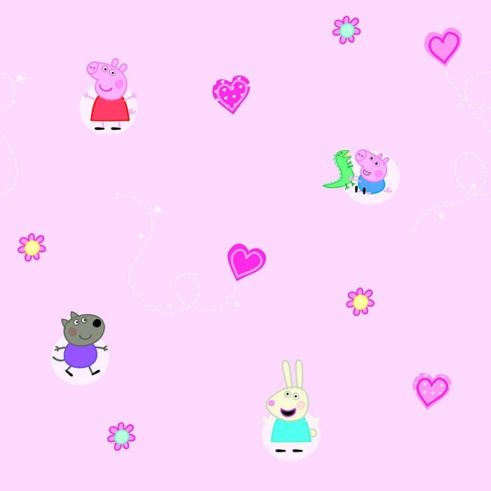Buy Fine Decor Peppa Pig Official Childrens Kids Wallpaper