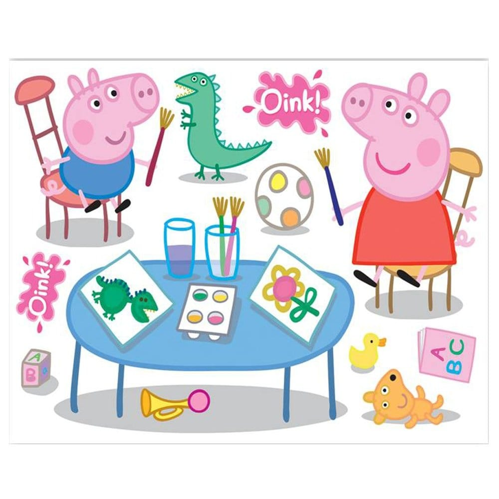 Fun4walls peppa pig maxi wall sticker stikaround sa30191 wall peppa pig maxi wall sticker stikaround sa30191 amipublicfo Images