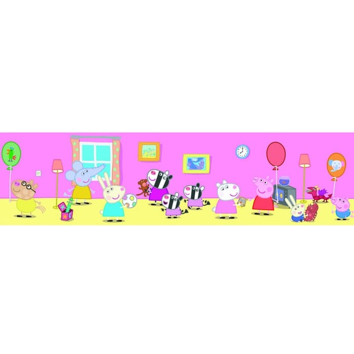 Buy Fine Decor Peppa Pig Official Childrens Wallpaper Border
